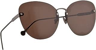 Salvatore Ferragamo SF178S Fiore Sunglasses Shiny Gunmetal w/Brown Lens 63mm 067 SF 178S