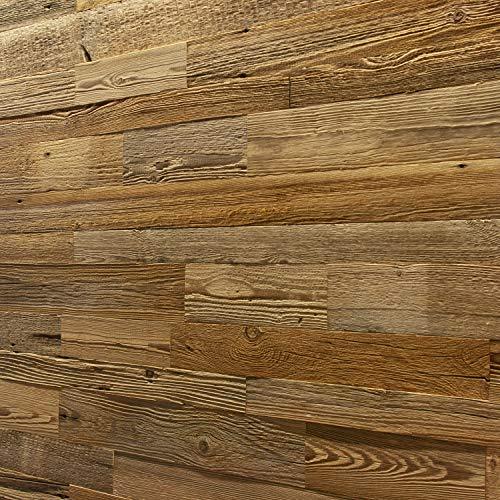 Wandverkleidung aus Altholz, Natürliches Vintage Holz Wandpaneele | model