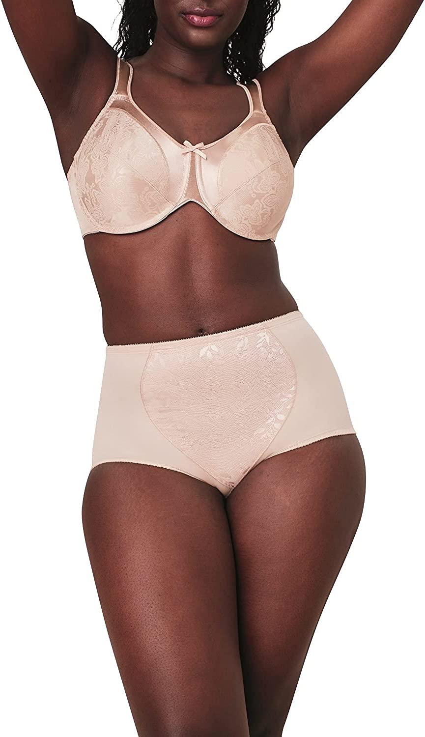 Bali Women's Jacquard Mesh Tummy Panel Firm Control Shapewear Brief 2-Pack Fajas DFX710 at  Women's Clothing store