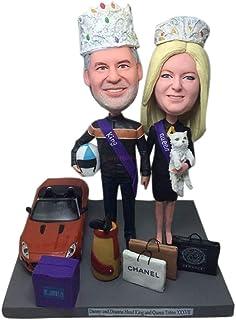 pastel de cumpleaños toppers bobblehead para regalo de aniversario de boda presente muñecas bobble head