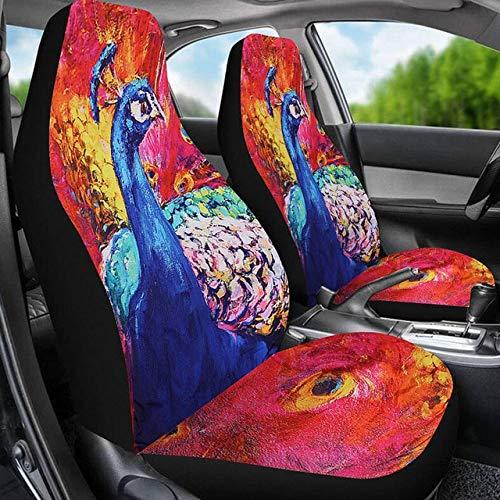 huobeibei Universal 3D Animal Print Funda de Asiento de Coche para SUV decoración Interior de Coche
