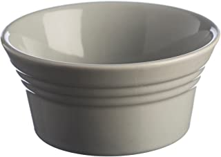 Mason Cash Classic Kitchen Ramekin, Durable Stoneware Goes from Oven to Table, 6-Fluid Ounce Capacity Ideal for Souffles, Dips and Personally Portioned Dishes, Dishwasher and Freezer Safe, Grey