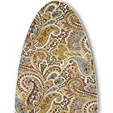 ClarUSA Premium Ironing Board Replacement Cover fits Reliable Corp Models (C60 Model, Chocolate Paisley Print)