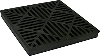 NDS 1211G 12-Inch Square Grate, Black