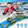 Remote Control Car, 2.4Ghz RC Cars for Adults Race Stunt RC Car Monster Trucks for Boys, 4WD Double Sided 360° Rotating RC Trucks with Headlights, Toy Cars for Kids Gifts for Boys Girls #2