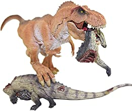 Toxz Tyrannosaurus Rex Dinosaur Action Figure with Base Animal Model Toy Collector,Dinosaur Eating Hunting Model for Kid Collector,Realistic Detail, Plastic