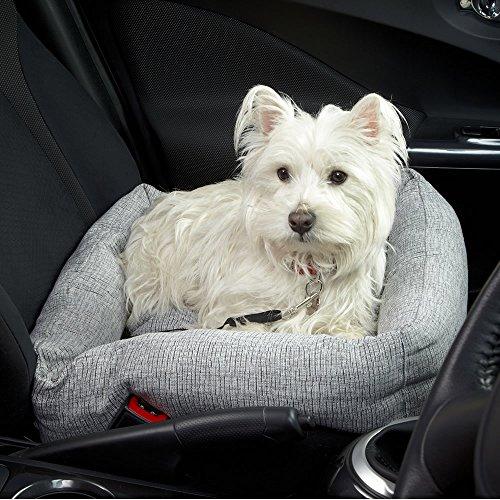 Bunty Travel Dog Bed Soft Washable Car Seat Cushion Warm Luxury Pet Basket - Made in the UK