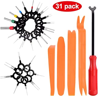 Terminals Removal Tools Auto Car Wire Connector Terminal Pin Extractors Puller Auto Trim Removal Tool Kit 31Pcs