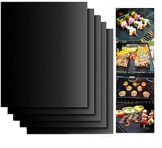 LACKINGONE Tapis de Cuisson réutilisable pour Barbecue Noir 1Pcs