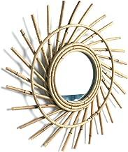 Liteness Miroir Rond en rotin Miroir en rotin Innovant Art D/éco Miroir Rond Salon penderie Miroir Cuisine Salle de Bain Miroir