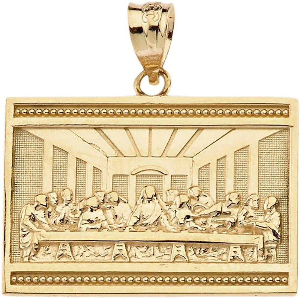 10k Yellow Gold The Last Supper of Jesus with His Disciples Pendant