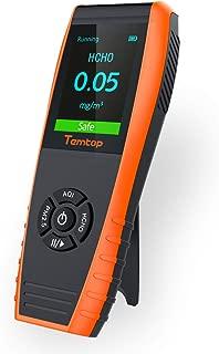 Temtop LKC-1000E Monitor Profesional del Detector de Calidad del Aire, con Pruebas Precisas PM2.5 / PM10 /Medidor de Partículas/HCHO/AQI Tester