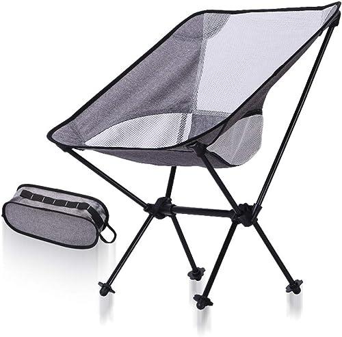 Yuqianqian Chaise De Camping Portable Chaises de randonnée Pliantes portatives ultralégères compactes de Chaise de Camping avec Le Sac de Transport Parfait pour la randonnée pêche Camping