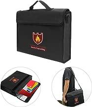 Fireproof Money Document File Bag Pouch Cash Bank Cards Passport Valuables Organizer Holder Safe Storage for Home Office