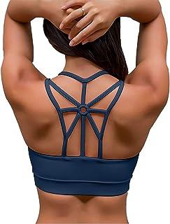 YIANNA Donna Reggiseno Sportivo Senza Ferretto Reggiseni con Imbottito Removibile Yoga Fitness Top