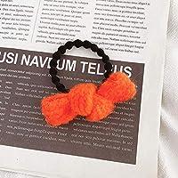 12ピースヘアシュシュエラスティックヘアロープヘアタイヘアリングソフトポニーテールホルダー女性用ヘアバンドガールズヘアアクセサリー-オレンジ