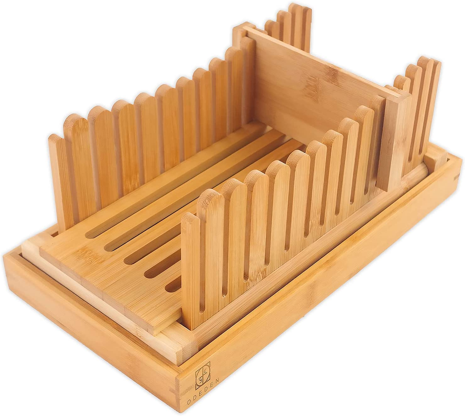 Attractive Bamboo Bread Slicers for Homemade Bread Loaf,Adjustab