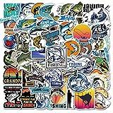 Go Fishing Aufkleber für Autos, Motorräder, tragbares Gepäck, iPad, Laptops, wasserdicht,...