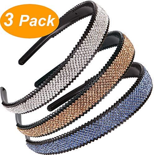 Haarreif-Set mehrfarbig 8Stück 1cm breit aus Kunststoff
