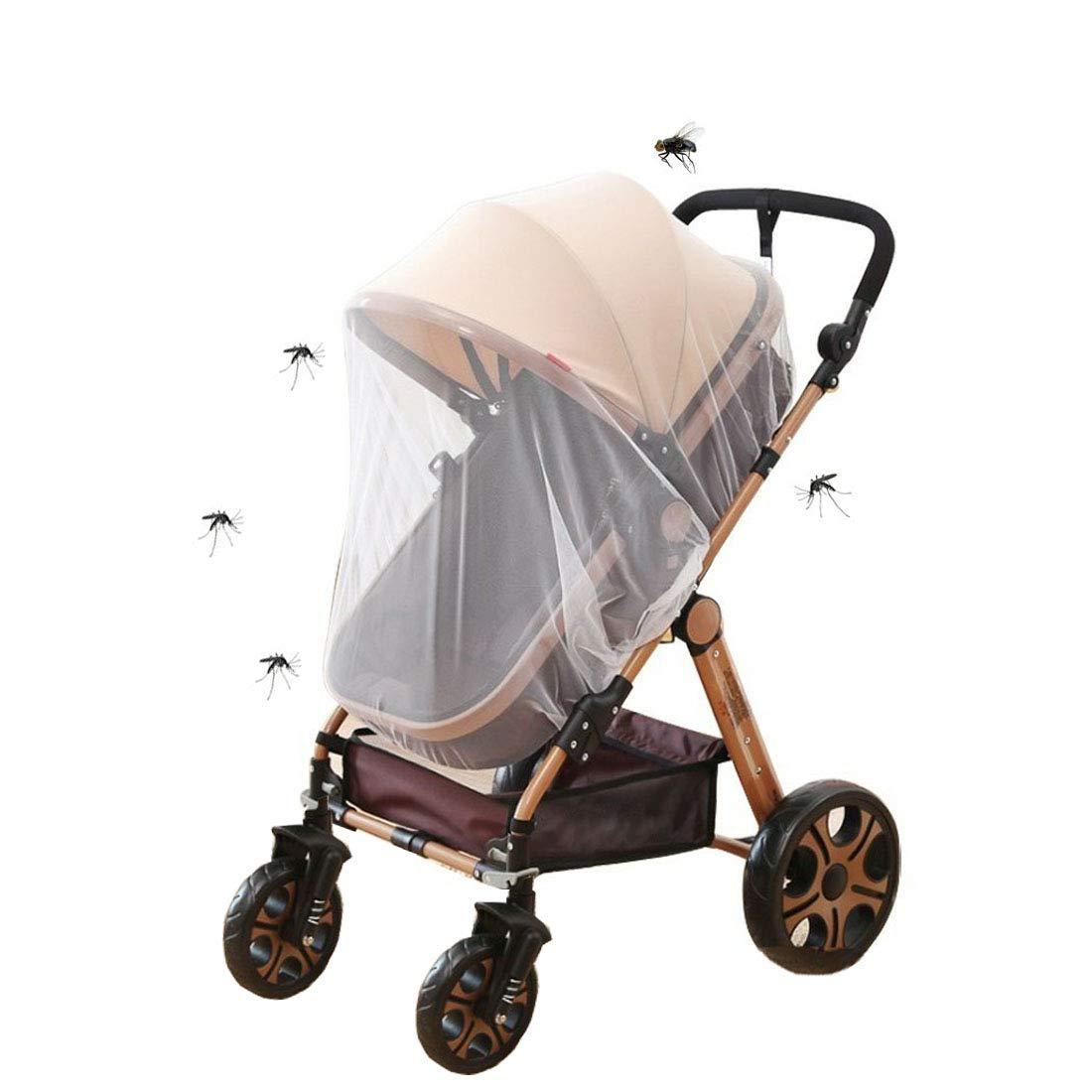Universal Insektenschutz Mückennetz Für Kinderwagen Sportwagen Jogger Reisebett Feinmaschiges Moskitonetz Mit Gummizug Weiß Baby