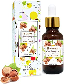 B-URBAN Chaulmoogra Oil 100% Natural Pure Undiluted Uncut Carrier Oil 30ml