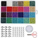 JIEERCUN Yousiju 24 Grid Glass Beads 4mm Flojo Beads Pintura Beads Colorful Millet Beads Set Accesorios Joyas (Color : Multi-Colored)