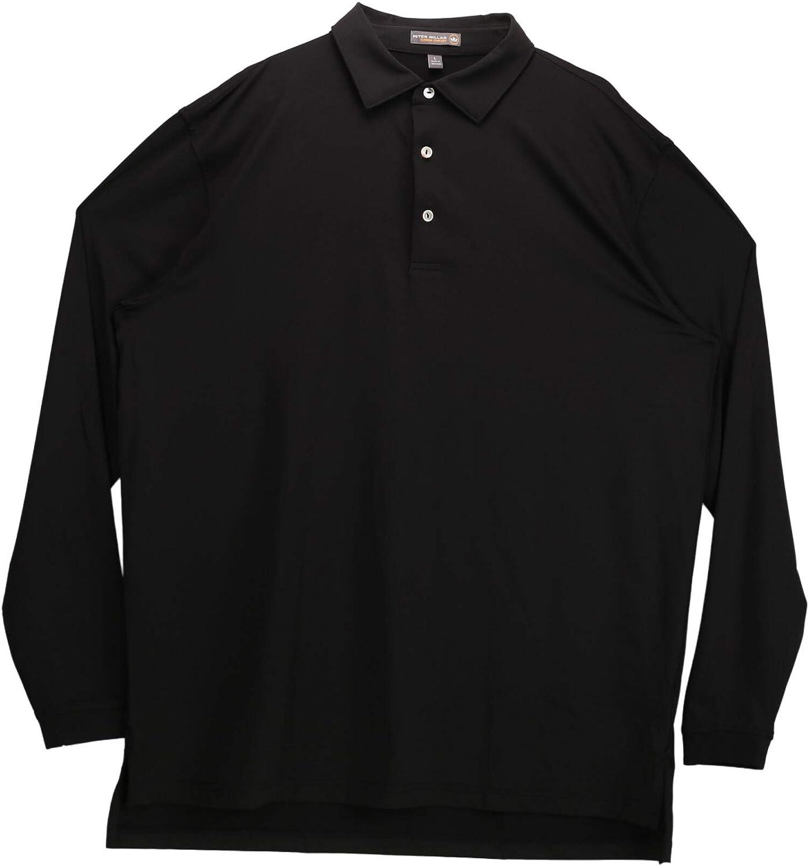 PETER MILLAR Men's Black Polyester Polo Shirt - 3 XT