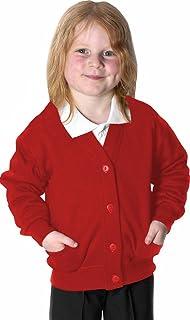 Uniform Fleece Cardigan Red 11-12 Years