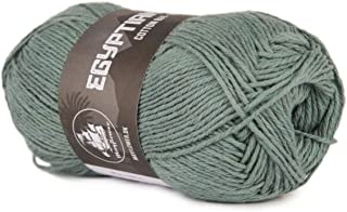 Happy Place Crafts - Organic Egyptian Cotton Yarn Luxury Egyptian Giza Cotton Yarn for Crocheting or Knitting - Soft, 100% Organic, GOTS Certified (Sage Green, 8/4)