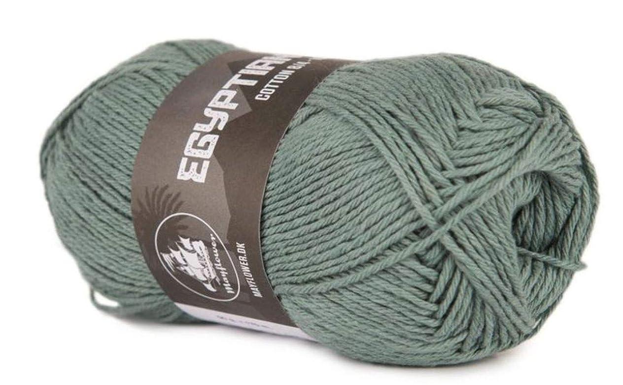 Happy Place Crafts - Organic Egyptian Cotton Yarn Luxury Egyptian Giza Cotton Yarn for Crocheting or Knitting - Soft, 100% Organic, GOTS Certified (Sage Green, 8/4)