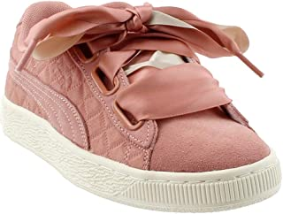 PUMA Womens Suede Heart Quilt Casual Sneakers,