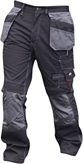 Mens Holster Pocket Cargo Workwear Trousers