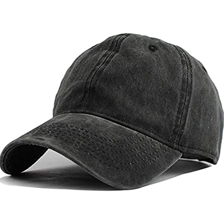 Men Women Washed Cotton Low Profile Distressed Vintage Baseball Cap Plain Adjustable Dad Hat