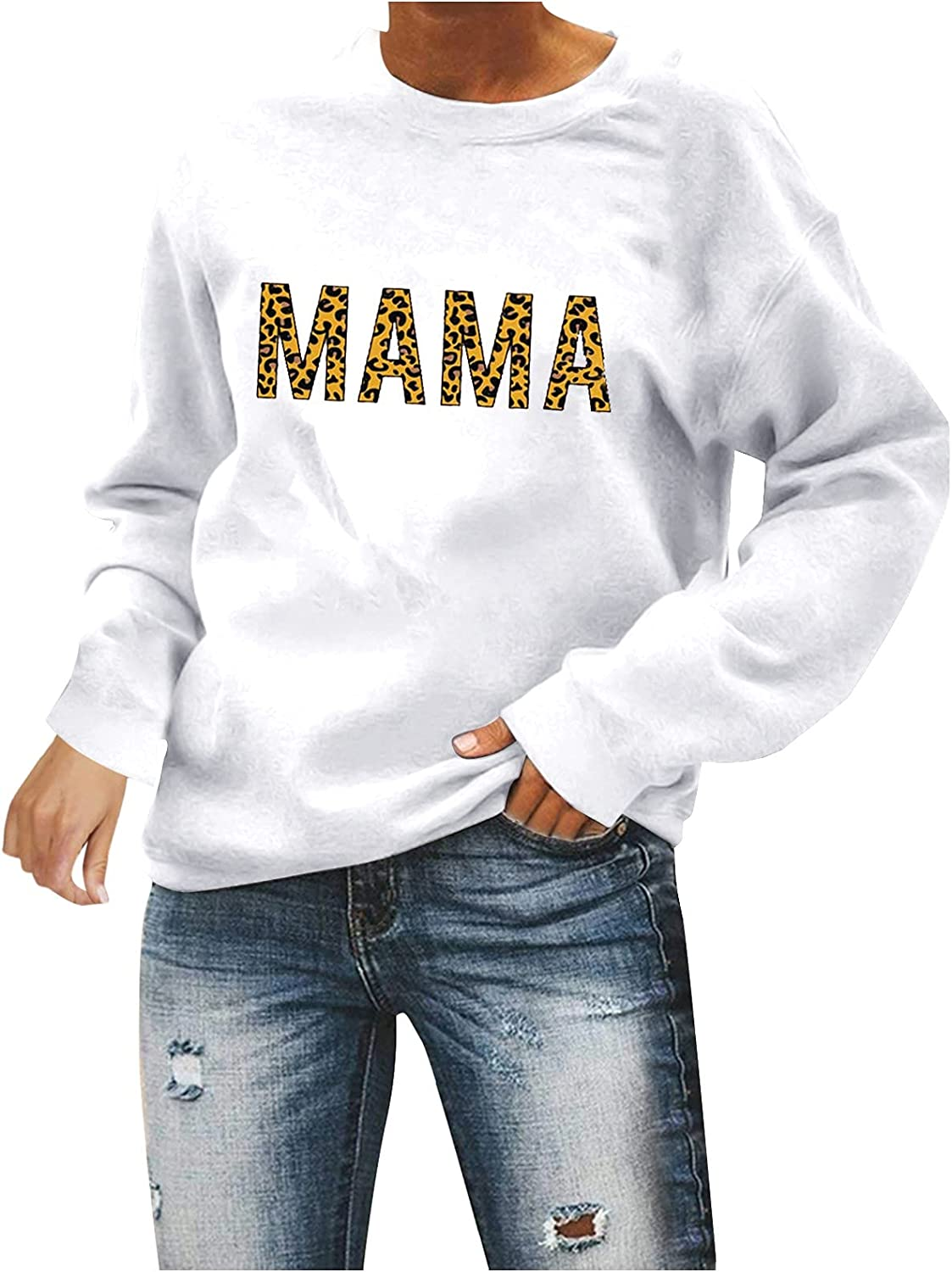 Oversized Sweatshirt for Women,Womens Vintage Graphic Round Neck Long Sleeve Sweatshirt Casual Loose Fitting Pullover Tops