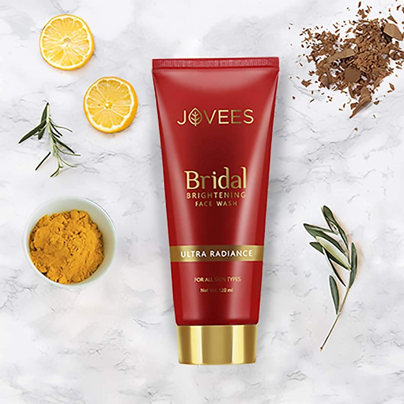 チェス基礎社員Jovees Bridal Brightening Face Wash 120ml Ultra Radiance Even & brighter complex