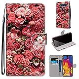 LG V40 ThinQ Hülle, SATURCASE Schön PU Lederhülle Magnetverschluss Brieftasche Kartenfächer Standfunktion Handschlaufe Handy Tasche Schutzhülle Handyhülle Hülle für LG V40 ThinQ (DK-22)