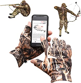 DecoyPro Lightweight Fingerless Hunting Gloves for Men...