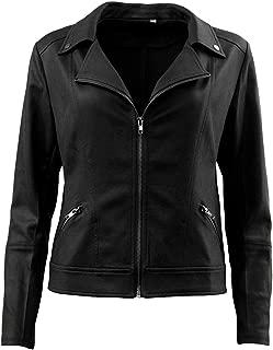 Women's Faux Leather Jacket Short Moto Biker Jacket Casual Coat