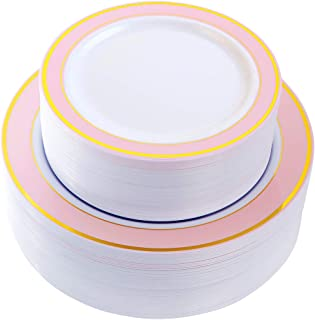Best pale pink party plates Reviews