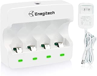 [Upgrade]Arlo Battery Charger, Enegitech CR123A Rechargeable Battery Charger Lithium 3.7V 4-Slot Fast Charger for Arlo Security Camera VMC3030/VMK3200/VMS3330/3430/3530