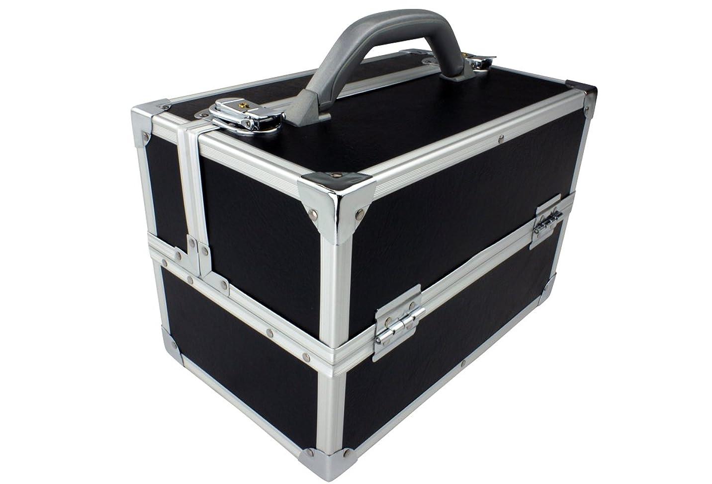 遷移オレンジ機構【数量限定15%オフ】メイクボックス|C2617BK-4|軽量タイプ|コスメボックス 化粧箱 メイクアップボックス
