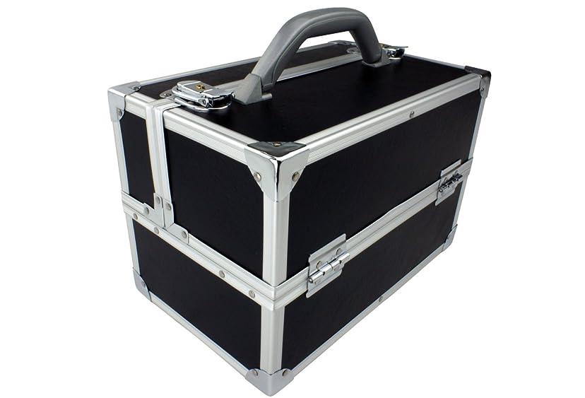 誓うセンタースポンジ【数量限定15%オフ】メイクボックス|C2617BK-4|軽量タイプ|コスメボックス 化粧箱 メイクアップボックス