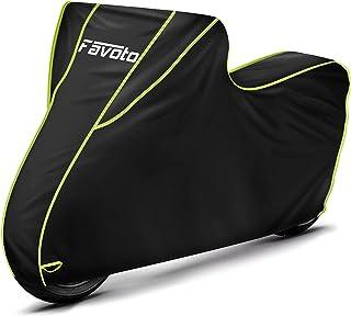 Favoto Waterdichte motorhoes, motorhoes, motorhoes, scooterafdekking, XXL, outdoor, zwart, groen, 300D met lange reflecter...