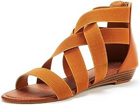 Sandalias Mujer Verano cuña Moda Sandalias Romanas de Mujer Sandalias de Verano con Correa elástica para Mujer Cuñas Romanas Sandalias Zapatos Sandalias de Vestir niña
