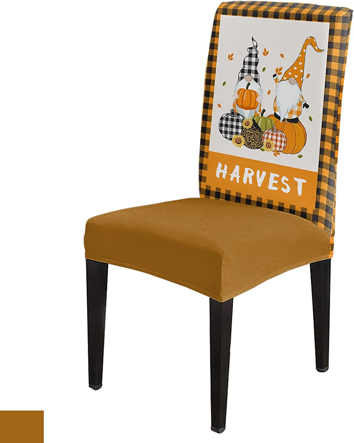 Fall Harvest Chair Slipcovers Set Spande Elastic Cash special price 6 of Max 41% OFF Polyester