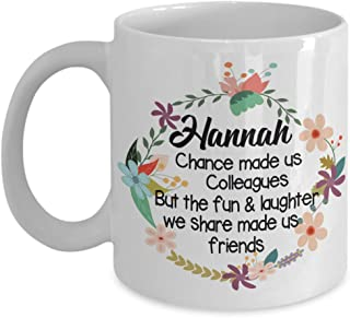 Personalised Mug - Chance made us Colleagues but Fun laughter made us friends Coffee Mug - Gift IDea for Co-Worker, Work Colleague, Friend Tea Cup Chr