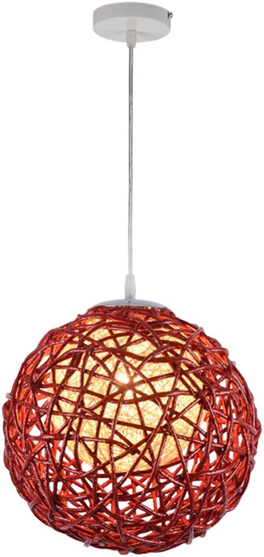WYQLZ Kronleuchter, Nordic Rattan Weben Kunst Kronleuchter Wohnzimmer Esszimmer Bar Kreative Stricken Hanf Ball Persnlichkeit Deckenleuchte Lampe E27