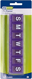 Ezy Dose Weekly (7 Day) Locking Pill and Vitamin Organizer   Large   Assorted Colors   Case of 72