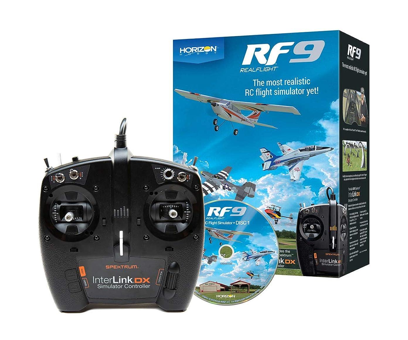 デッドロック正気干渉MALTA★リアルフライト9 送信機型USBコントローラー付属 HORIZON版 RCフライトシミュレーター Real Flight 9 Horizon Hobby Edition / RF9