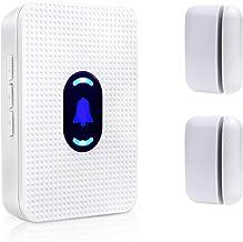 Door Window Open Chime Entry Alert Wireless Door Sensor for Home Store Apartment Office Entrance 2 Magnetic Sensor & 1 Rec...
